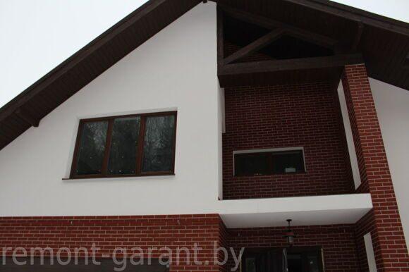 Покраска кирпича на фасаде дома
